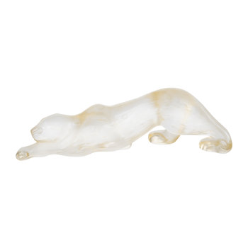 Small Zeila Panther Sculpture - Gold Luster