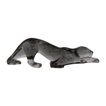 Small Zeila Panther Sculpture - Gray