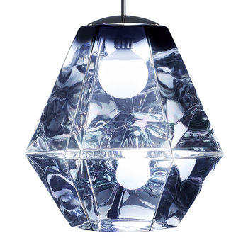 Cut Pendant Light - Smoke