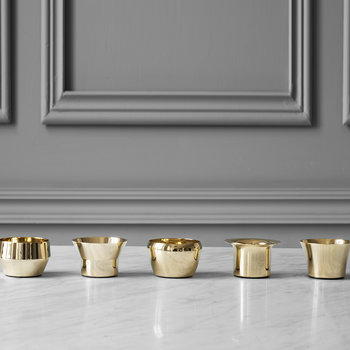 Kin Tealight Holders - Set of 5 - Brass