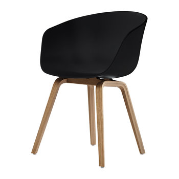 About A Chair AAC22 - Black/Oak