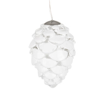Celina White Pinecone Decoration