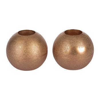Set of 2 Mona LED Candles - Copper