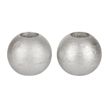 Set of 2 Mona LED Candles - Silver