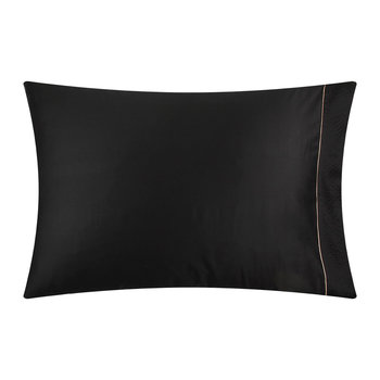 Nervures Pillow Case - 50x75cm - Black and Nude