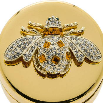 Gold Trinket Box - Amber Bee