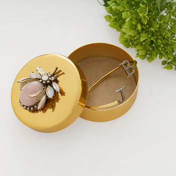 Gold Trinket Box - Vintage Bug