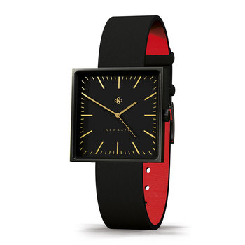 Cubeline Watch - Leather Strap - Black