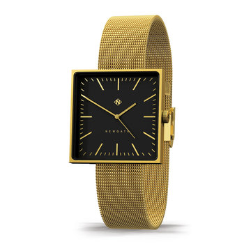 Cubeline Watch - Mesh Strap - Brushed Brass