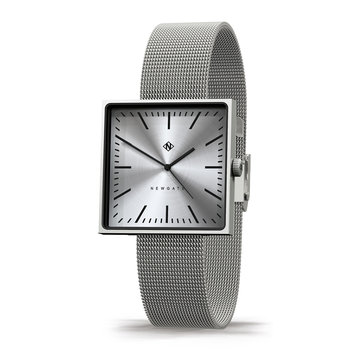Cubeline Watch - Mesh Strap - Brushed Stainless Steel