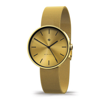 Drumline Watch - Mesh Strap - Brass