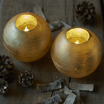 Set of 2 Mona LED Candles - Gold