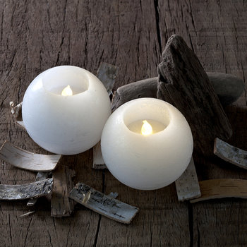 Set of 2 Mona LED Candles - White