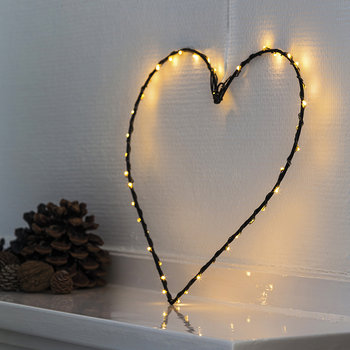 Small Liva Heart Light - Black