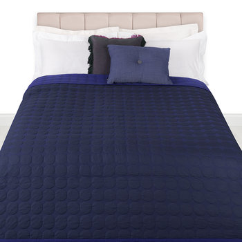Mega Dot Bed Cover - Blue