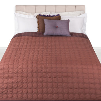 Mega Dot Bed Cover - Rust