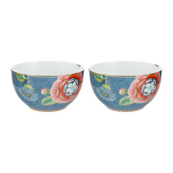 Spring To Life Bowls - Set of 2 - Blue
