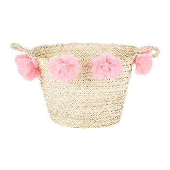 Bahia Pom Pom Magazine Holder - Rose