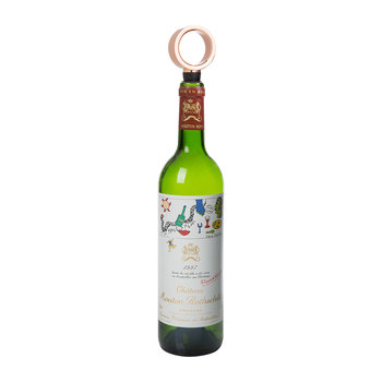 Geo Wine Charms & Bottle Stopper - Copper