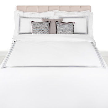 Tratto Embroidery Duvet Set - Grey - Super King