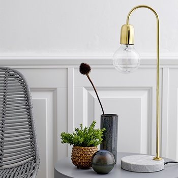 Table Lamp - Marble/Brass
