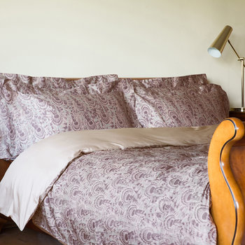 Peacock Duvet Set - Mauve