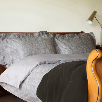 Peacock Duvet Set - Gray