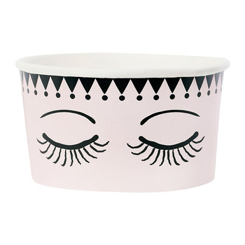 Ice Cream Cups With Spoons - Set of 8 - Eyes & Dots