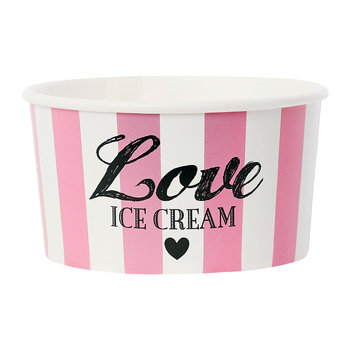 Ice Cream Cups With Spoons - Pink 'Love'