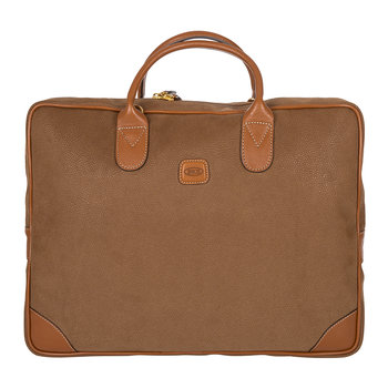 Life Briefcase with Large Handle - Camel