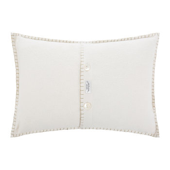 Glam Rock Sequin Cushion - Love - Cream