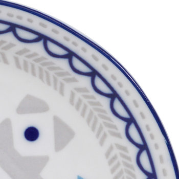Ethnic Plate - Gray/Blue - Small