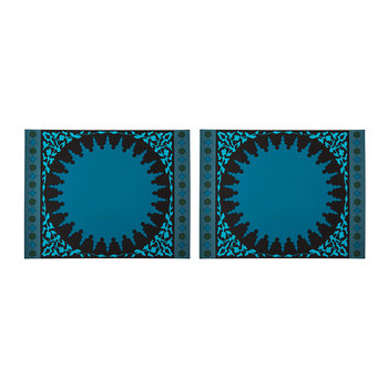 Set of 2 Rectangular Placemats - Mosaic Blue