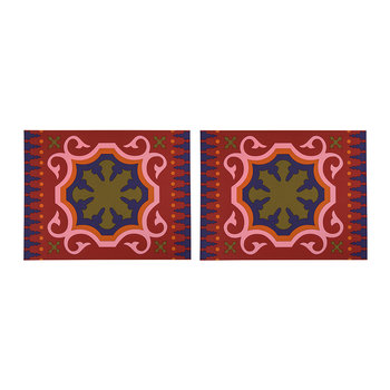 Set of 2 Rectangular Placemats - Sejjadeh Pink