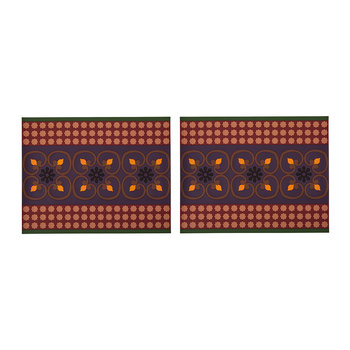Set of 2 Rectangular Placemats - Sejjadeh Prune