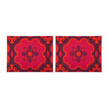 Set of 2 Rectangular Placemats - Sejjadeh Ruby