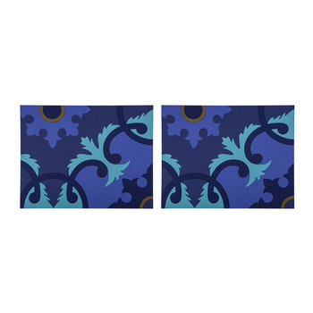 Set of 2 Rectangular Placemats - Zafaf Bluebird