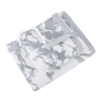 Marble Towel - Snow/Silverstone