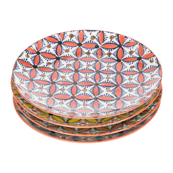 Colour Hippy Plates - Set of 4