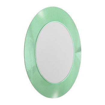 All Saints Round Mirror - Aquamarine Green