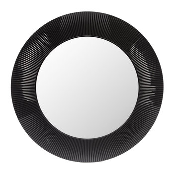 All Saints Round Mirror - Matt Black