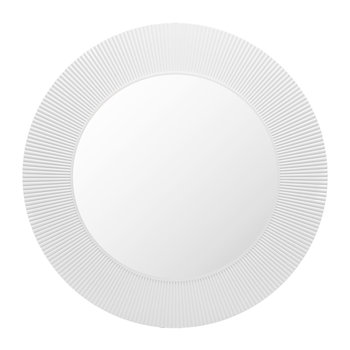 All Saints Round Mirror - Matt White