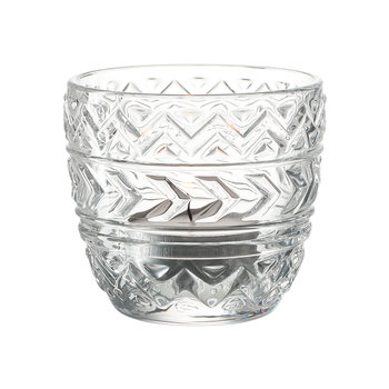 Etno Tealight Holder - Clear