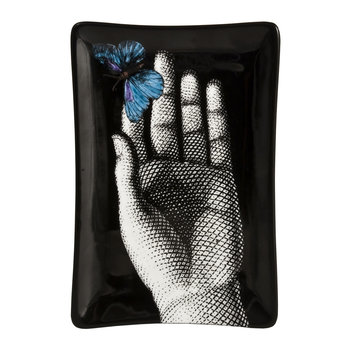 Blue Butterfly Rectangular Ashtray