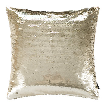 Changing Sequin Cushion - 40x40cm - Gold/Natural