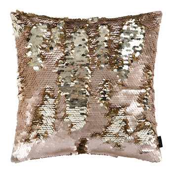 Changing Sequin Cushion - 40x40cm - Peach/Gold