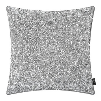 Sequined Cushion - 40x40cm - Silver