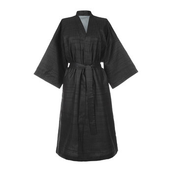 Stitched Silk Bathrobe