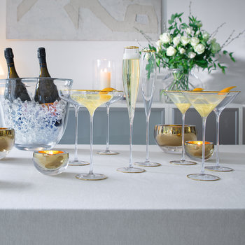 Celebrate Cocktail Glass - Set of 2 - Gold