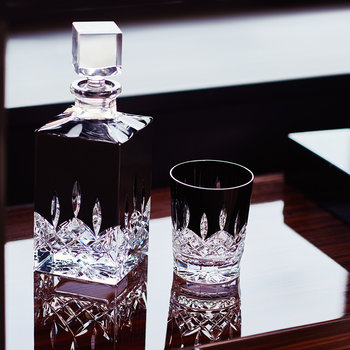 Lismore Black Square Decanter